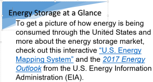 Energy storage at a glance